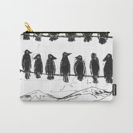 Crows on a Line Carry-All Pouch