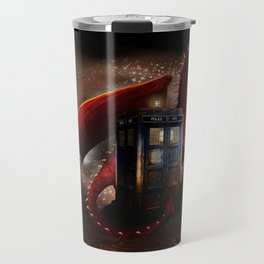 Red Dragon And Phone Box Travel Mug