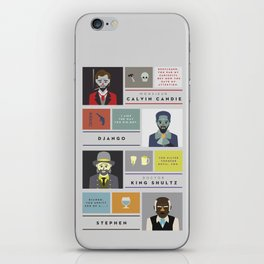 Django Unchained Character Poster iPhone Skin