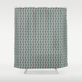 Teal lines Shower Curtain