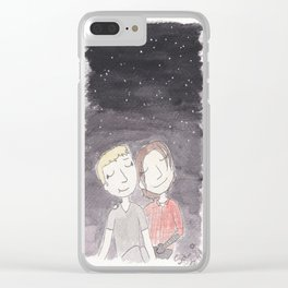 Stucky - stargazing Clear iPhone Case