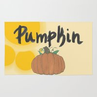 pumpkin Area & Throw Rugs featuring pumpkin by gasponce