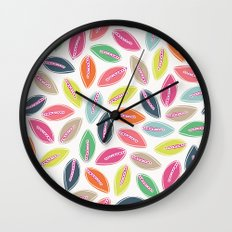 Bright Leaves Wall Clock