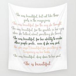 She Was Beautiful By F. Scott Fitzgerald 3 #minimalism #poem Wall Tapestry