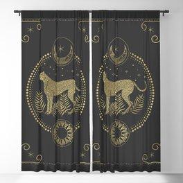 Wild Cheetah and the Moon Blackout Curtain