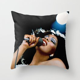 Donna Summer - Live and More Throw Pillow