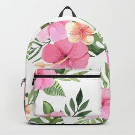 Elegant Summer Tropical Floral Design Backpack