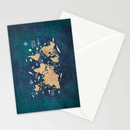 World Map Oceans Life blue #map #world Stationery Cards