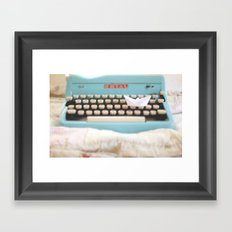 Paperboat & Typewriter Framed Art Print
