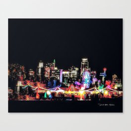 Zilker Park Trail Of Lights - Graphic 2 Canvas Print