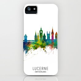 Lucerne Switzerland Luzern Skyline iPhone Case