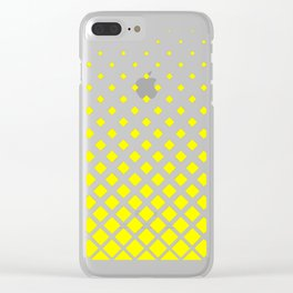 Yellow Mark Design Clear iPhone Case