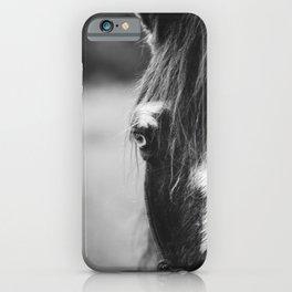 Blue Eye - horse photography iPhone Case