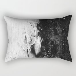 Monochromatic Black and White Wood Bark  - Rectangular Pillow