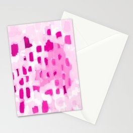 Zimta - pink abstract painting dots mark making canvas art decor Stationery Cards