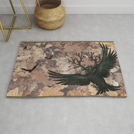 Malphas Halphas and the Murder of Crows Rug
