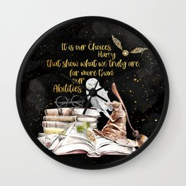 Our Choices - Golden Dust Wall Clock