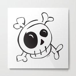 Skull v.1 Metal Print
