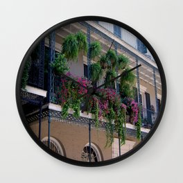 New Orleans Florals Wall Clock