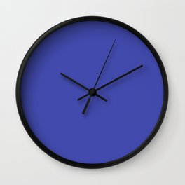 From Crayon Box – Outer Space Blue - Bright Blue Solid Color Wall Clock