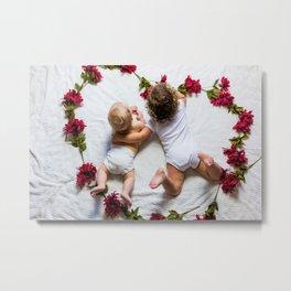 Love Roses Babies (Color) Metal Print