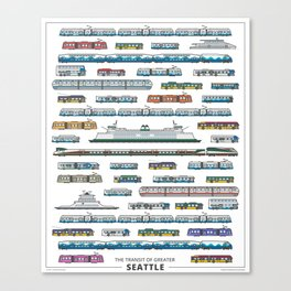 The Transit of Greater Seattle Canvas Print