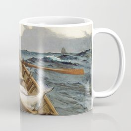 Winslow Homer1 - The Fog Warning, Halibut Fishing - Digital Remastered Edition Coffee Mug