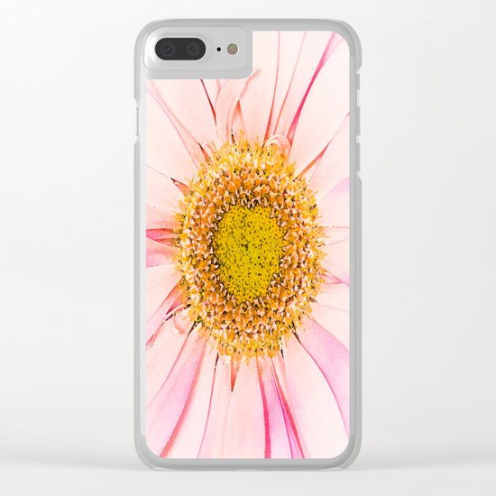 Pink flower with pink background - lovely girlish summer feeling Clear iPhone Case
