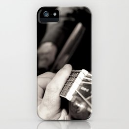 Playing the guitar iPhone Case