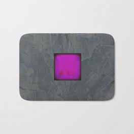Slate Gray Lavender Fuschia Modern Art Bath Mat