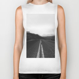 Roads End (Black and White) Biker Tank