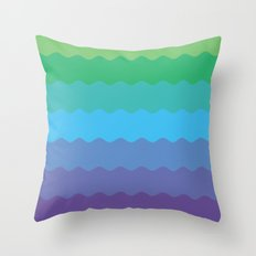 Waves 1 Throw Pillow