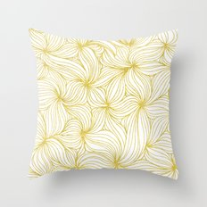 Golden Doodle floral Throw Pillow