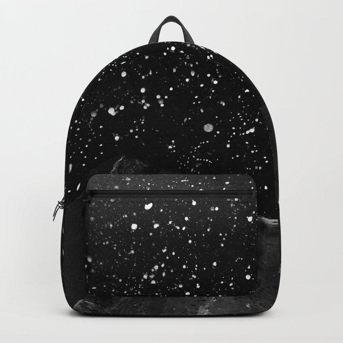 Moon Rising in the dark Black and White Backpack