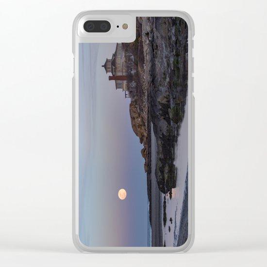 Full moon at Good Harbor Beach Clear iPhone Case