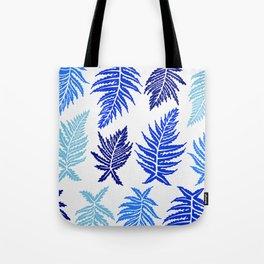 Inked Ferns – Blue Palette Tote Bag