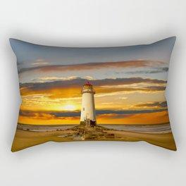 Point of Ayr Lighthouse Sunset Rectangular Pillow