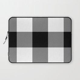 Big Black and White Buffalo Plaid Laptop Sleeve