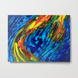 Colorful Abstract Art - Energy Flow 3 - By Sharon Cummings Metal Print