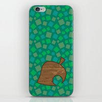 animal crossing iPhone & iPod Skins featuring Animal Crossing Summer Grass by Rebekhaart
