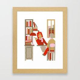 N as Notary Framed Art Print