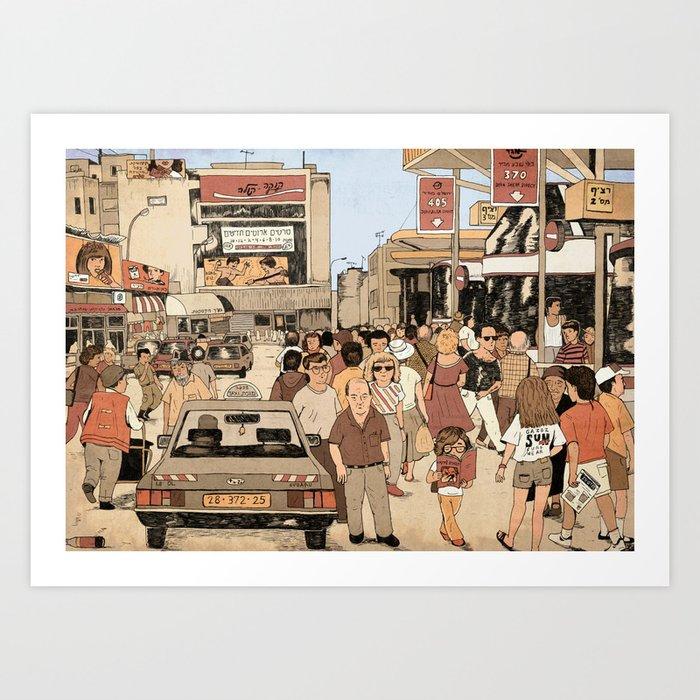 Tel Aviv Central Bus Station in The 1980s Art Print