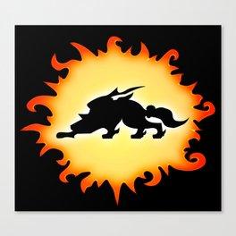 Amaterasu Logo- Black Canvas Print