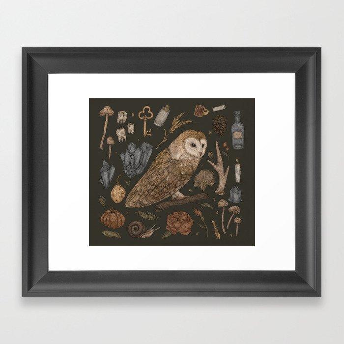 Harvest Owl Gerahmter Kunstdruck