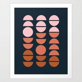 Modern Desert Color Shapes Art Print