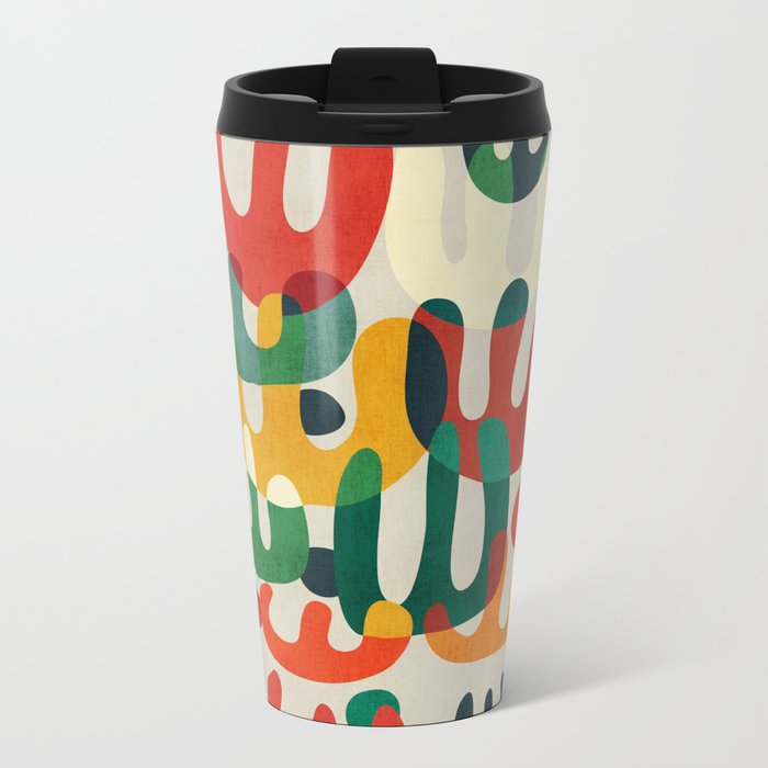 Cactus Metal Travel Mug