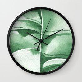 Banana Leaf no.8 Wall Clock