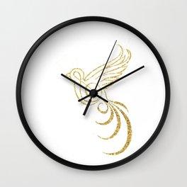 Golden Songbird Wall Clock