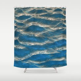 Aqua - blue abstract Shower Curtain