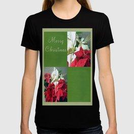 Mixed color Poinsettias 3 Merry Christmas Q5F1 T-shirt